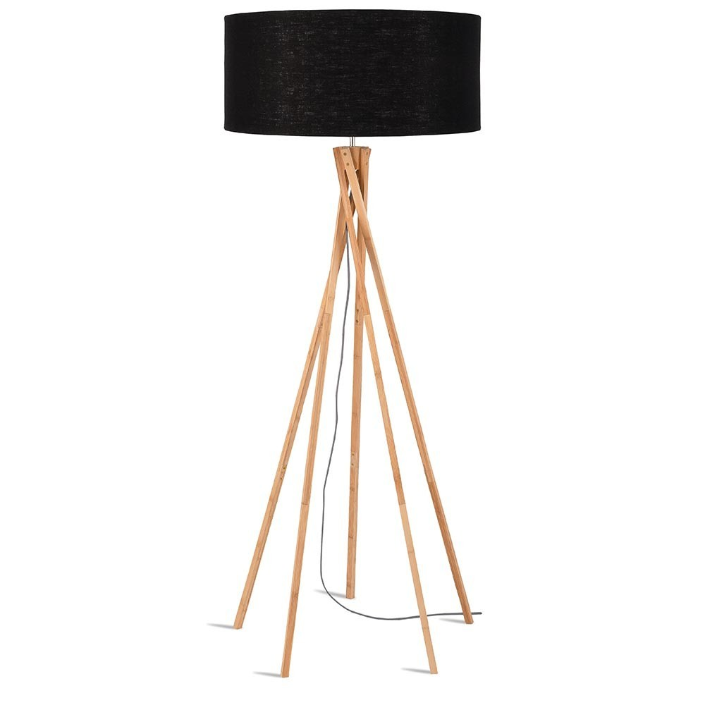 Kilimanjaro floor lamp linen black Good & Mojo