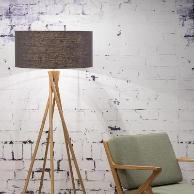 Kilimanjaro floor lamp linen dark grey Good & Mojo