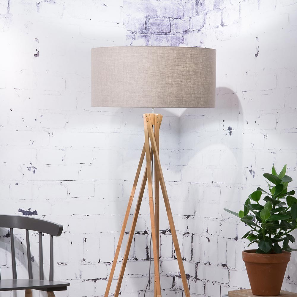 Kilimanjaro floor lamp linen dark Good & Mojo