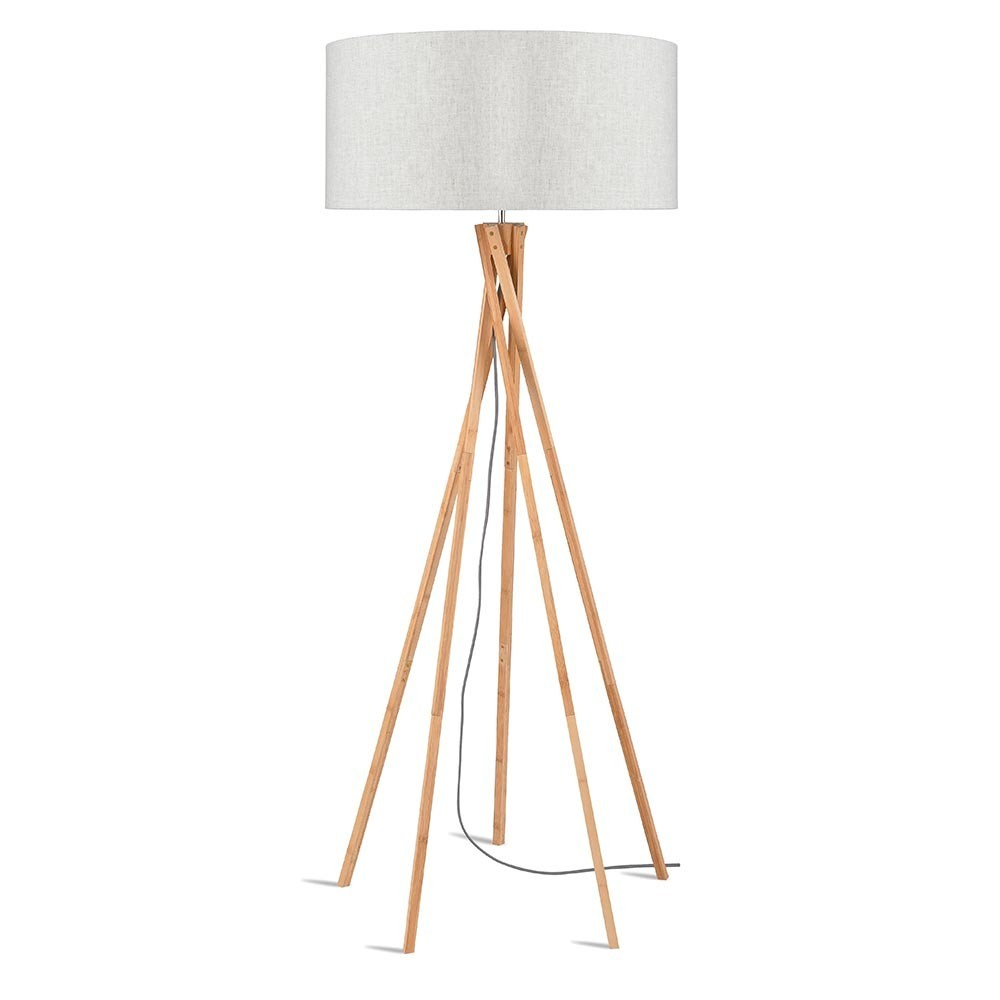 Kilimanjaro floor lamp linen light Good & Mojo