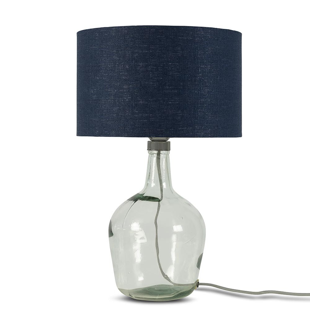 Murano tafellamp jeansblauw linnen S Good & Mojo