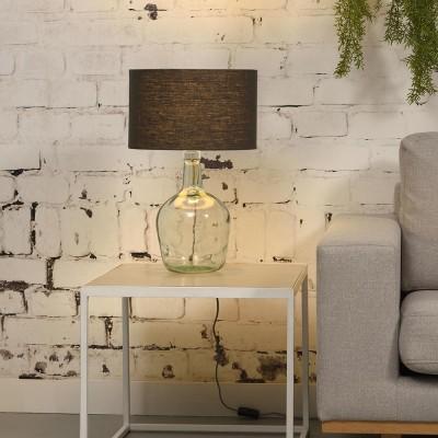Donkergrijze linnen Murano tafellamp S Good & Mojo
