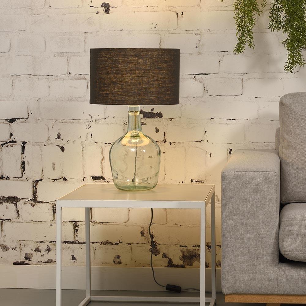 Murano table lamp linen dark grey S Good & Mojo