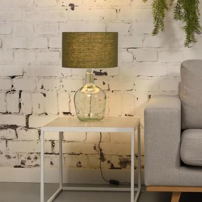 Lampe à poser Murano lin vert forêt S Good & Mojo