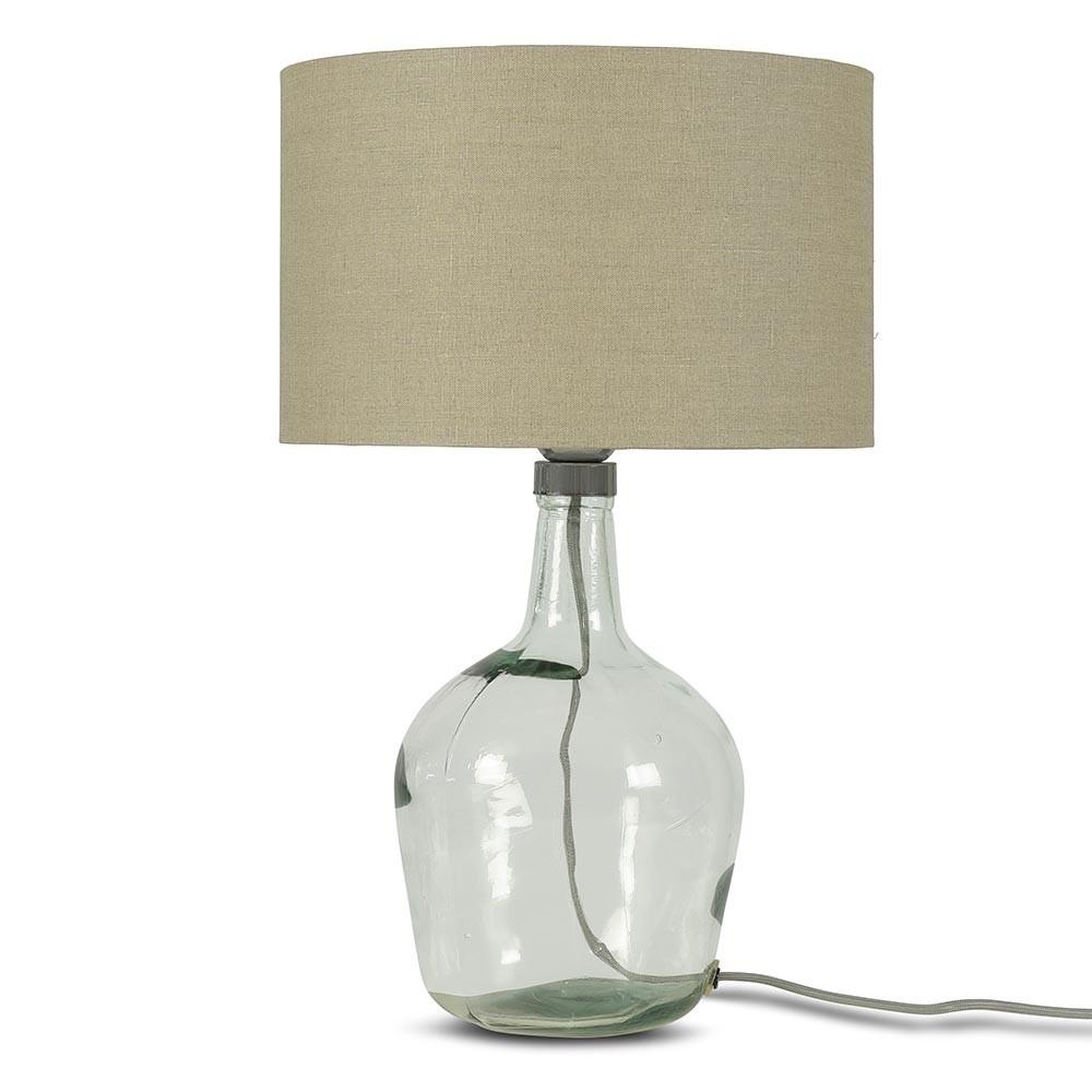 Murano tafellamp donker linnen S Good & Mojo
