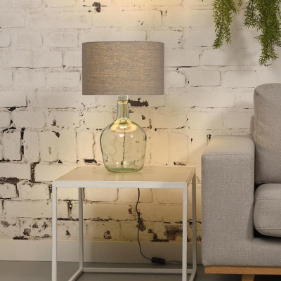 Tafellamp Murano lichtgrijs linnen S. Good & Mojo