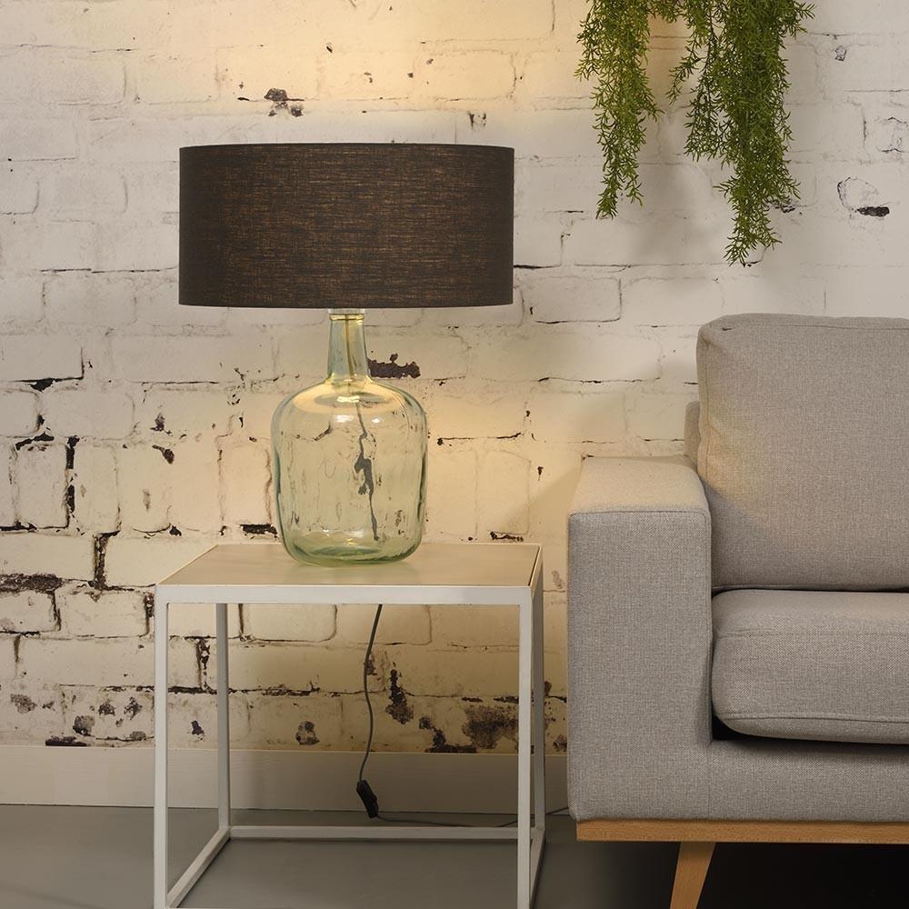 Murano table lamp linen blue denim L Good & Mojo