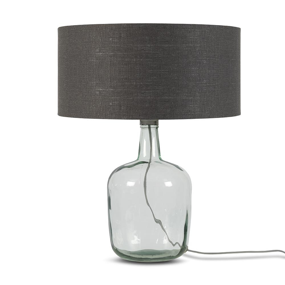Murano table lamp linen dark grey L Good & Mojo