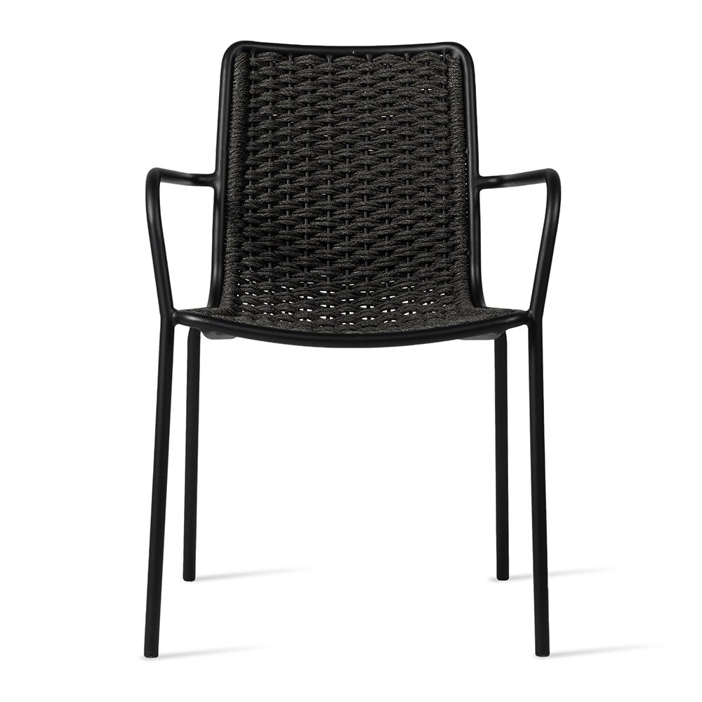 Oscar dining chair with armrests anthracite Vincent Sheppard