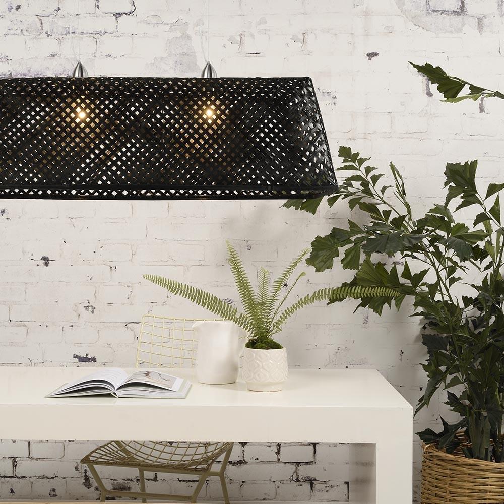 Zwarte bamboe Komodo hanglamp Good & Mojo