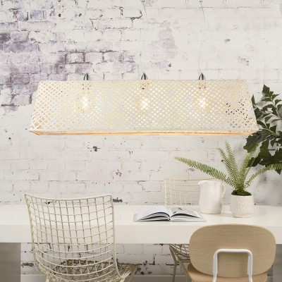 Komodo pendant lamp bamboo white Good & Mojo