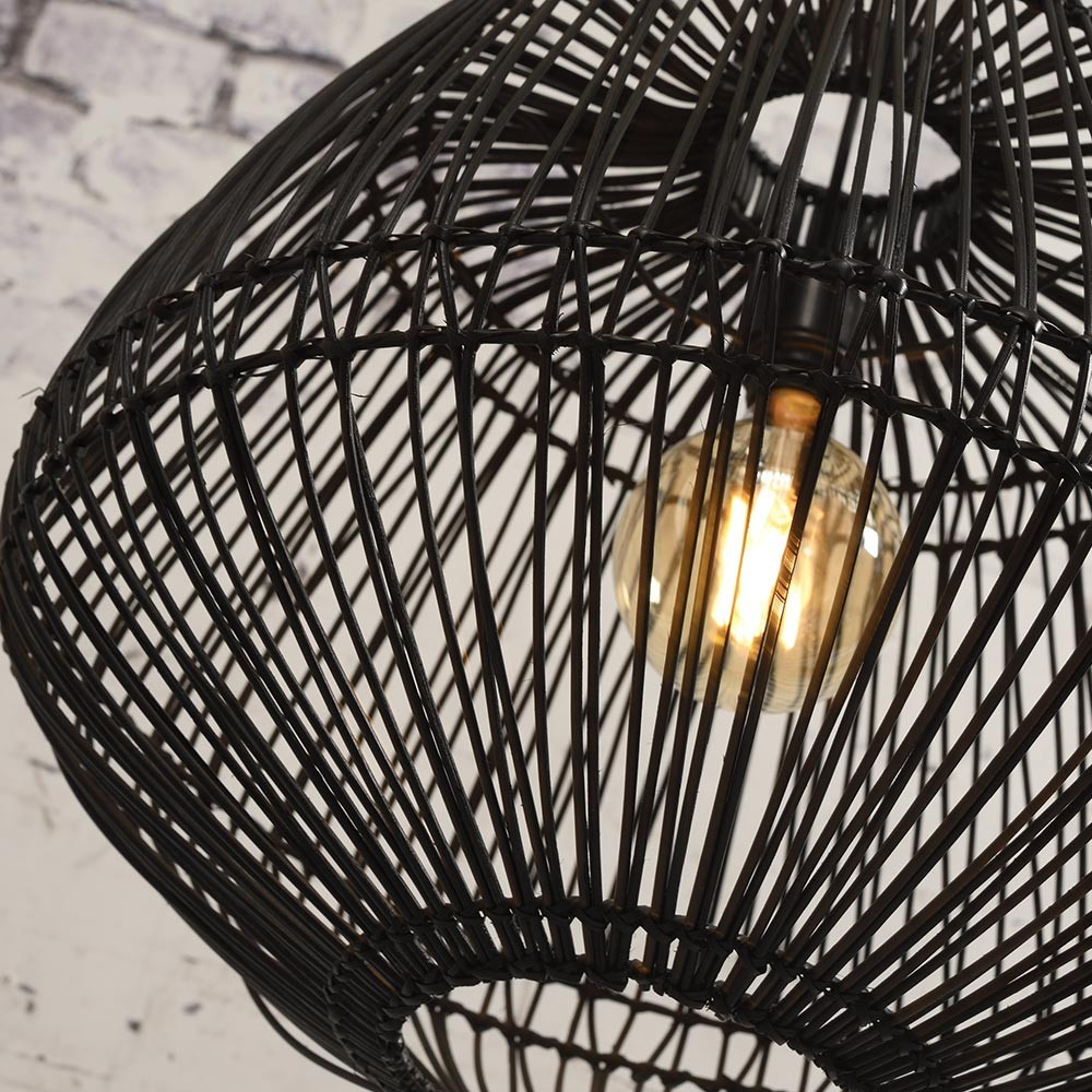 Madagascar pendant lamp rattan black Good & Mojo