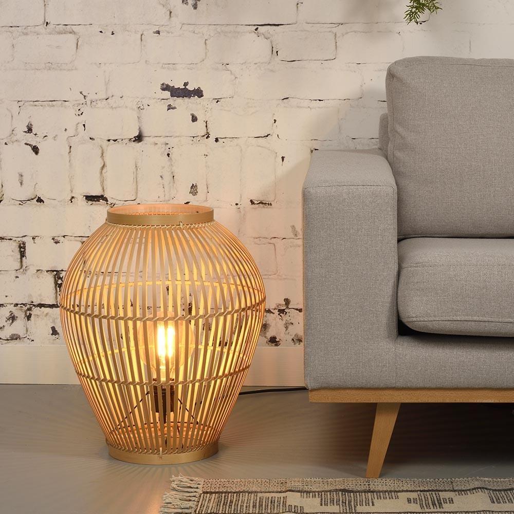 Tuvalu floor lamp bamboo S Good & Mojo