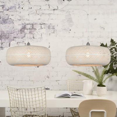 Dubbele hanglamp Palawan wit Good & Mojo