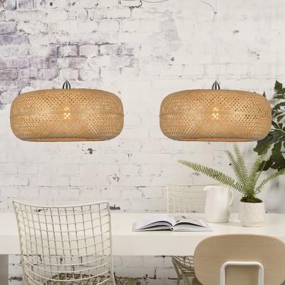 Dubbele hanglamp Palawan naturel Good & Mojo