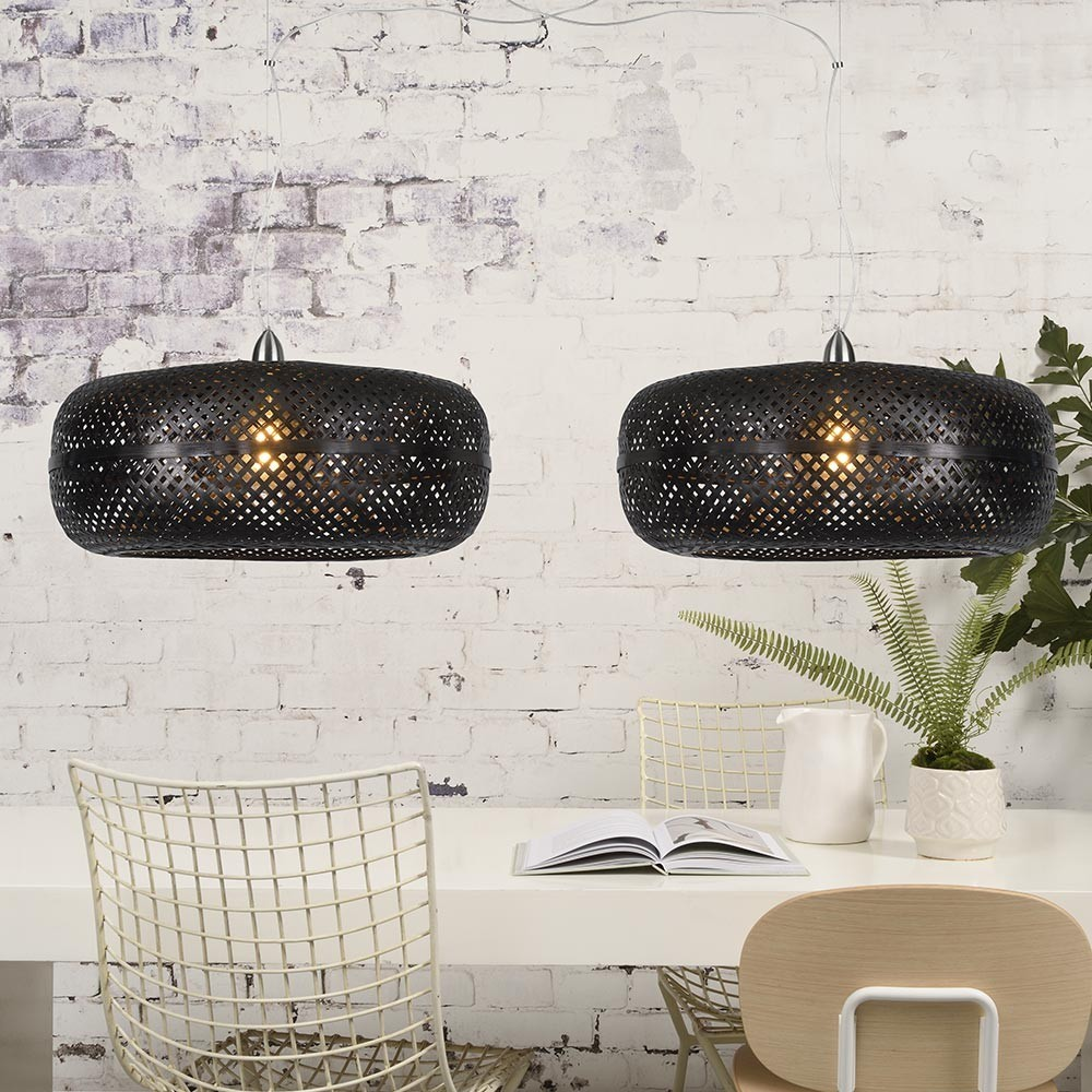 Palawan dubbele hanglamp zwart Good & Mojo