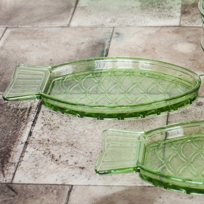 Fish & Fish dish S transparent green Serax