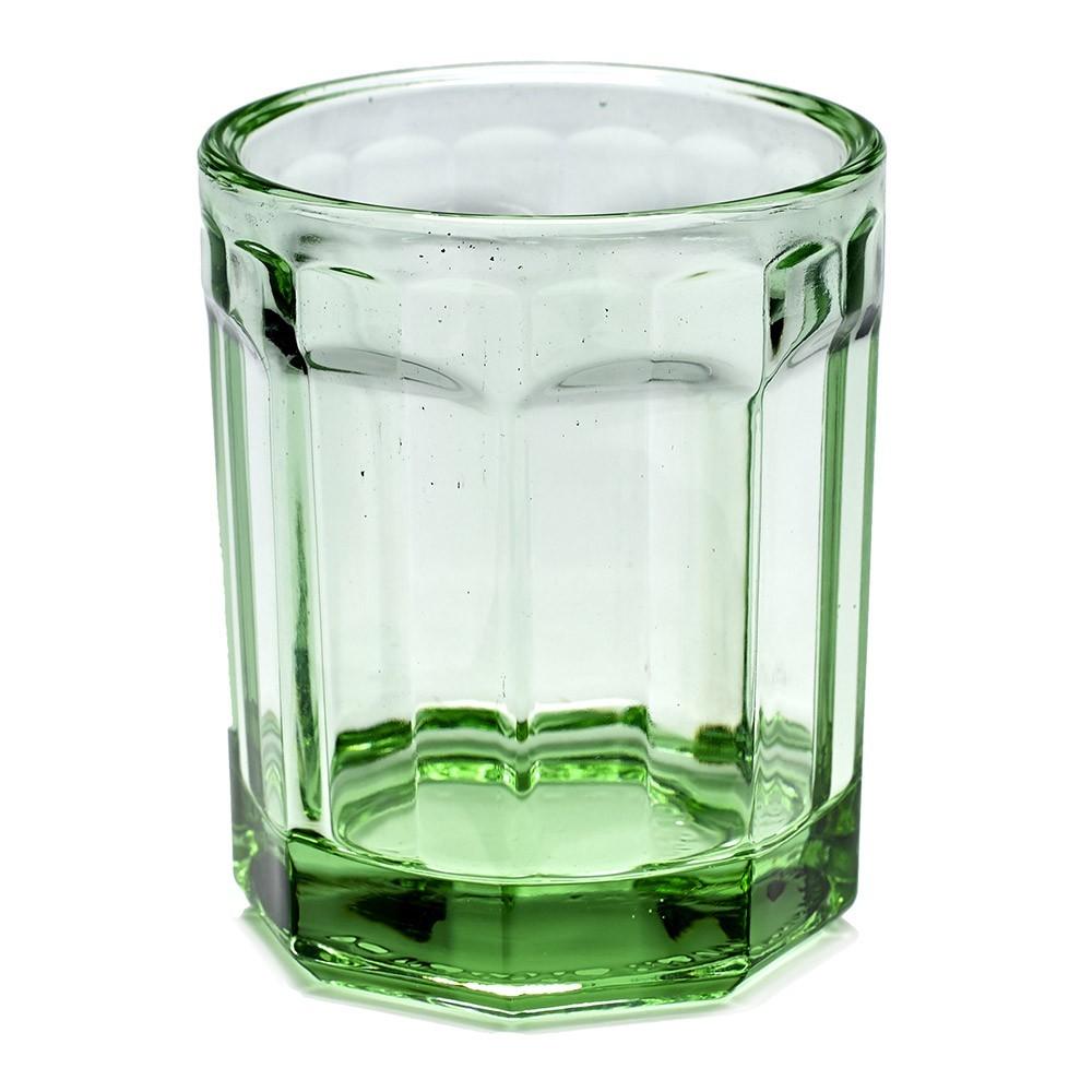 Verre M Fish & Fish vert transparent (lot de 4) Serax
