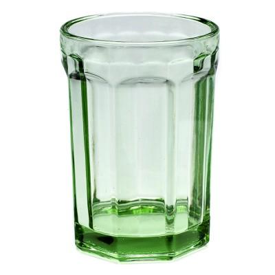 Glas L Fish & Fish transparant groen (set van 4) Serax