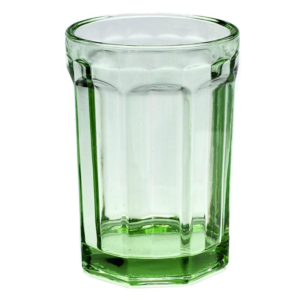 Verre L Fish & Fish vert transparent (lot de 4) Serax