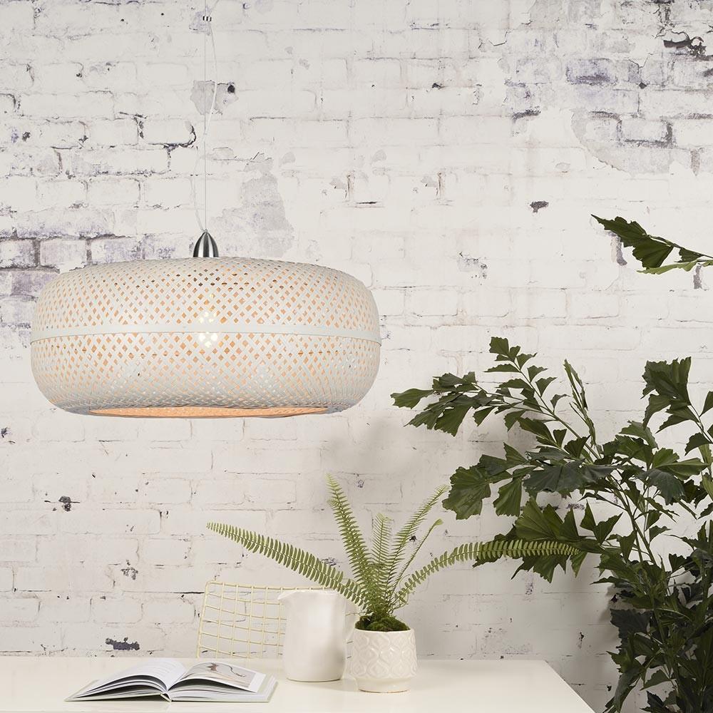 Witte Palawan hanglamp Good & Mojo