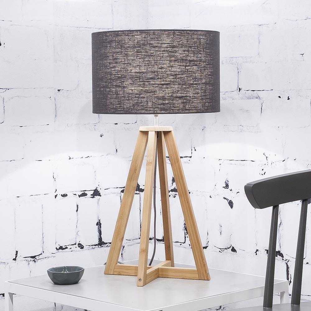 Everest table lamp linen dark grey Good & Mojo