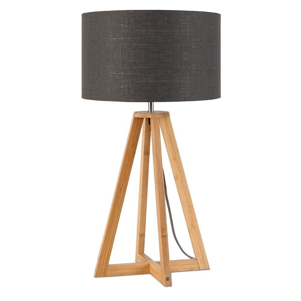 Tafellamp Everest in donkergrijs linnen Good & Mojo