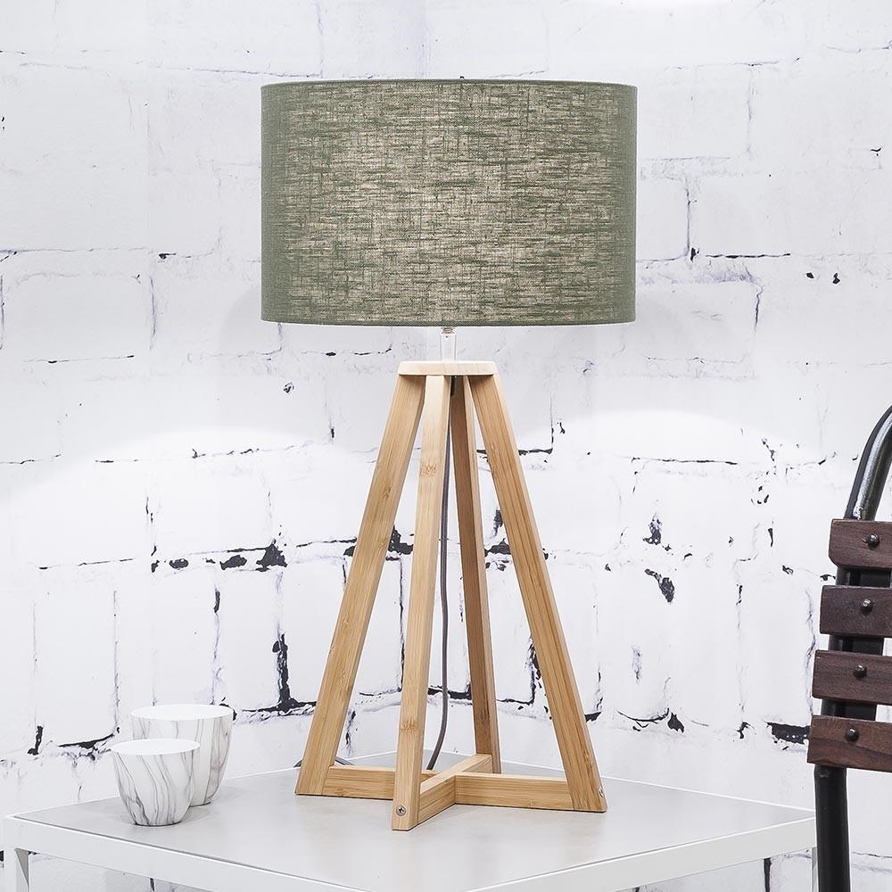 Everest table lamp linen green forest Good & Mojo