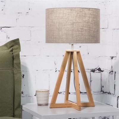 Tafellamp Everest in donker linnen Good & Mojo