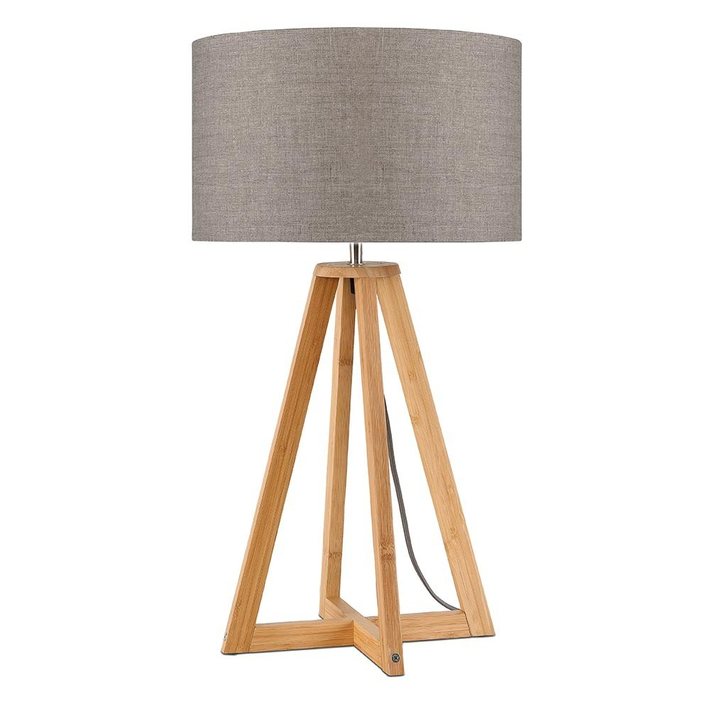 Everest table lamp dark linen Good & Mojo