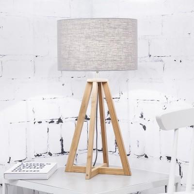 Everest table lamp linen light grey Good & Mojo