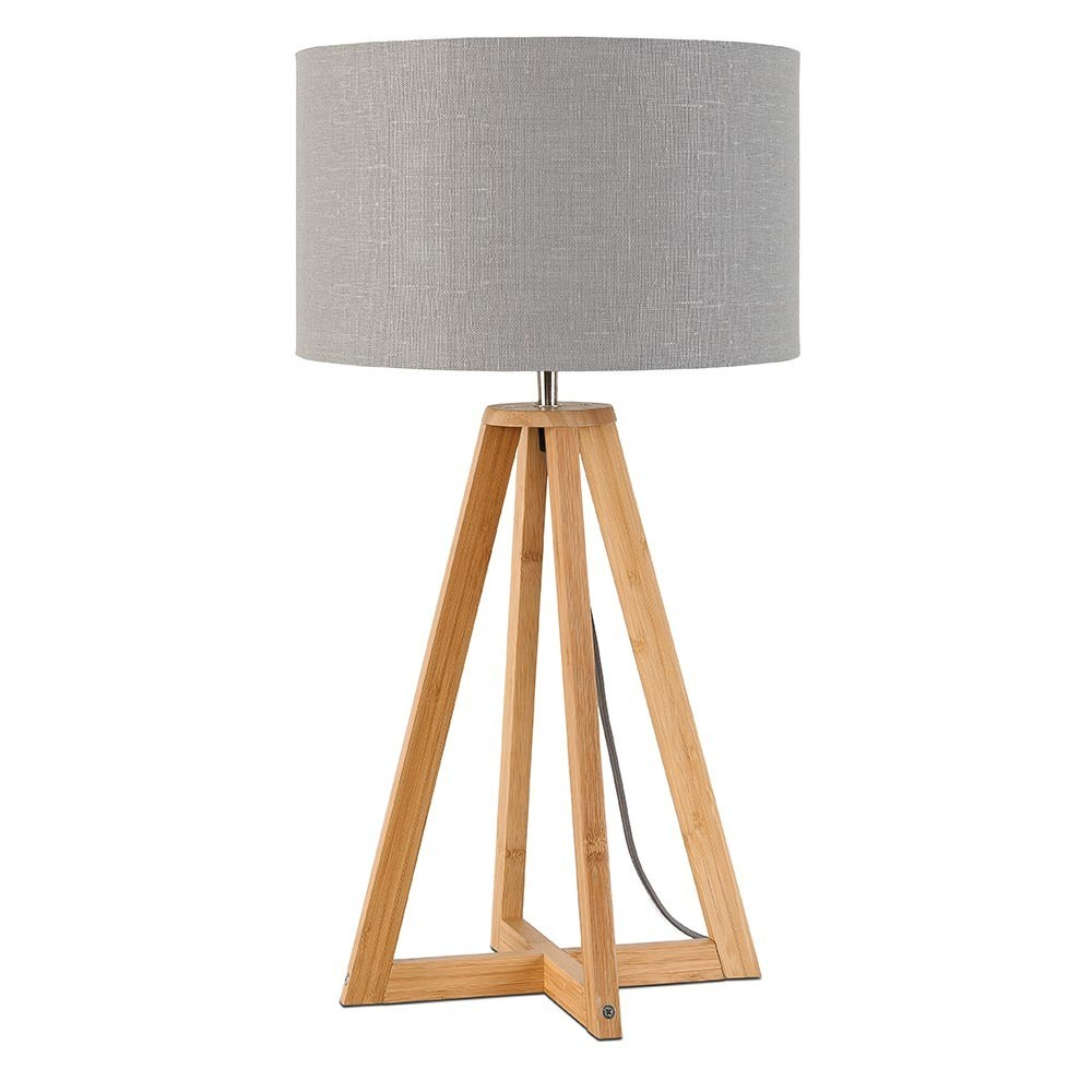 Lampe à poser Everest lin gris clair Good & Mojo
