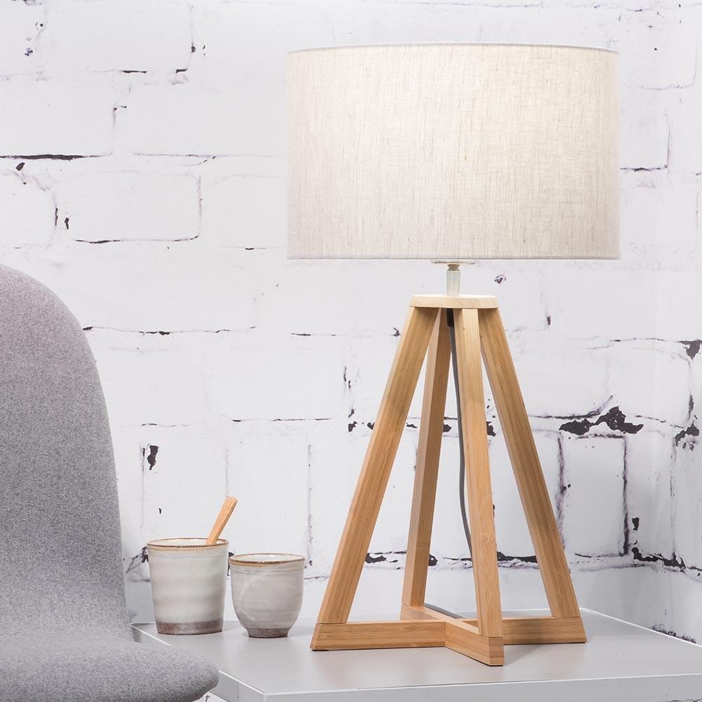 Tafellamp Everest in licht linnen Good & Mojo