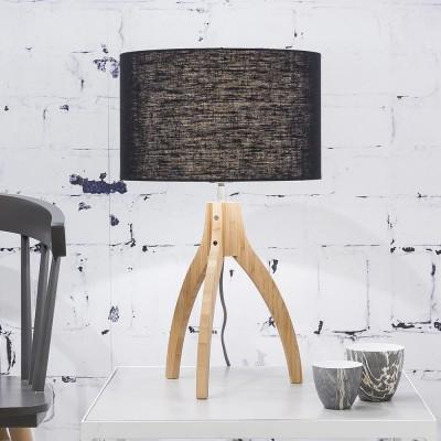 Tafellamp Annapurna zwart linnen Good & Mojo