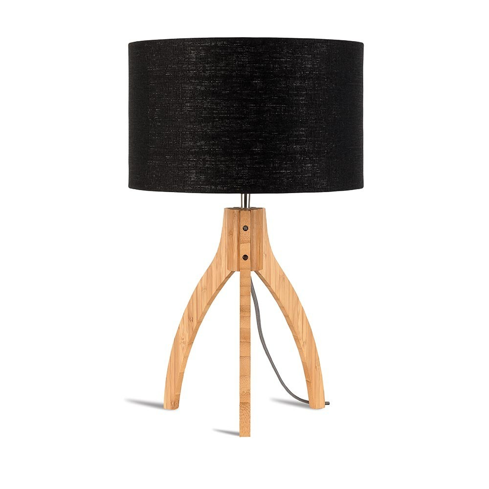 Annapurna table lamp linen black Good & Mojo