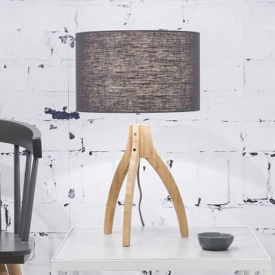 Lampe à poser Annapurna lin gris foncé Good & Mojo