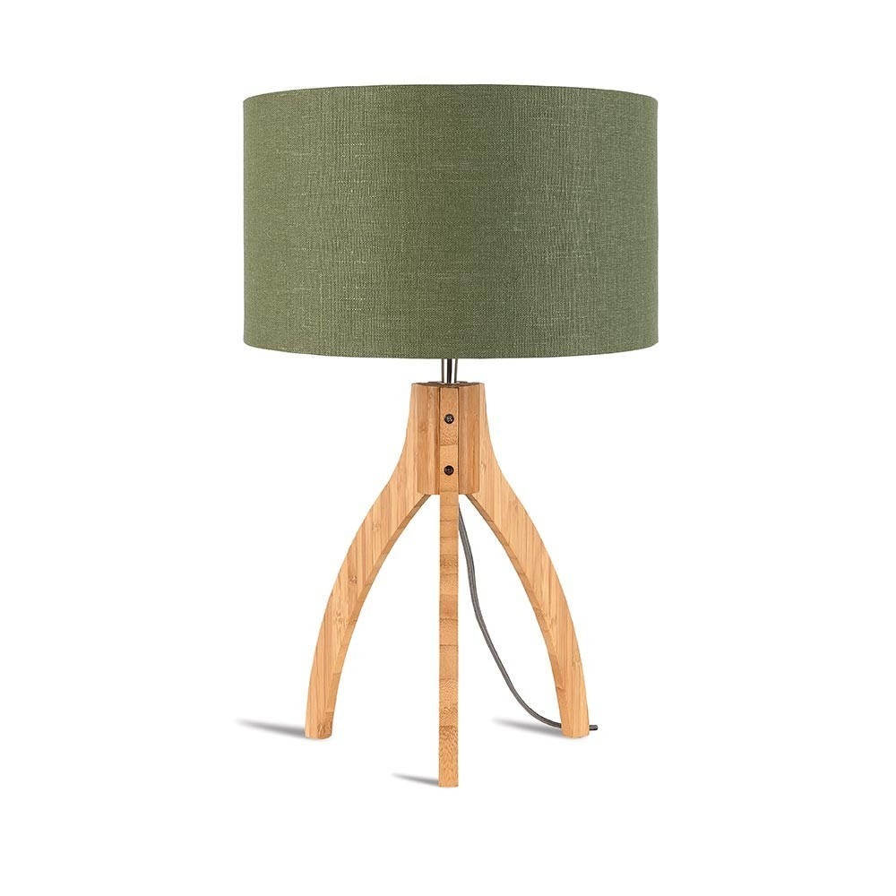 Annapurna table lamp linen green forest Good & Mojo