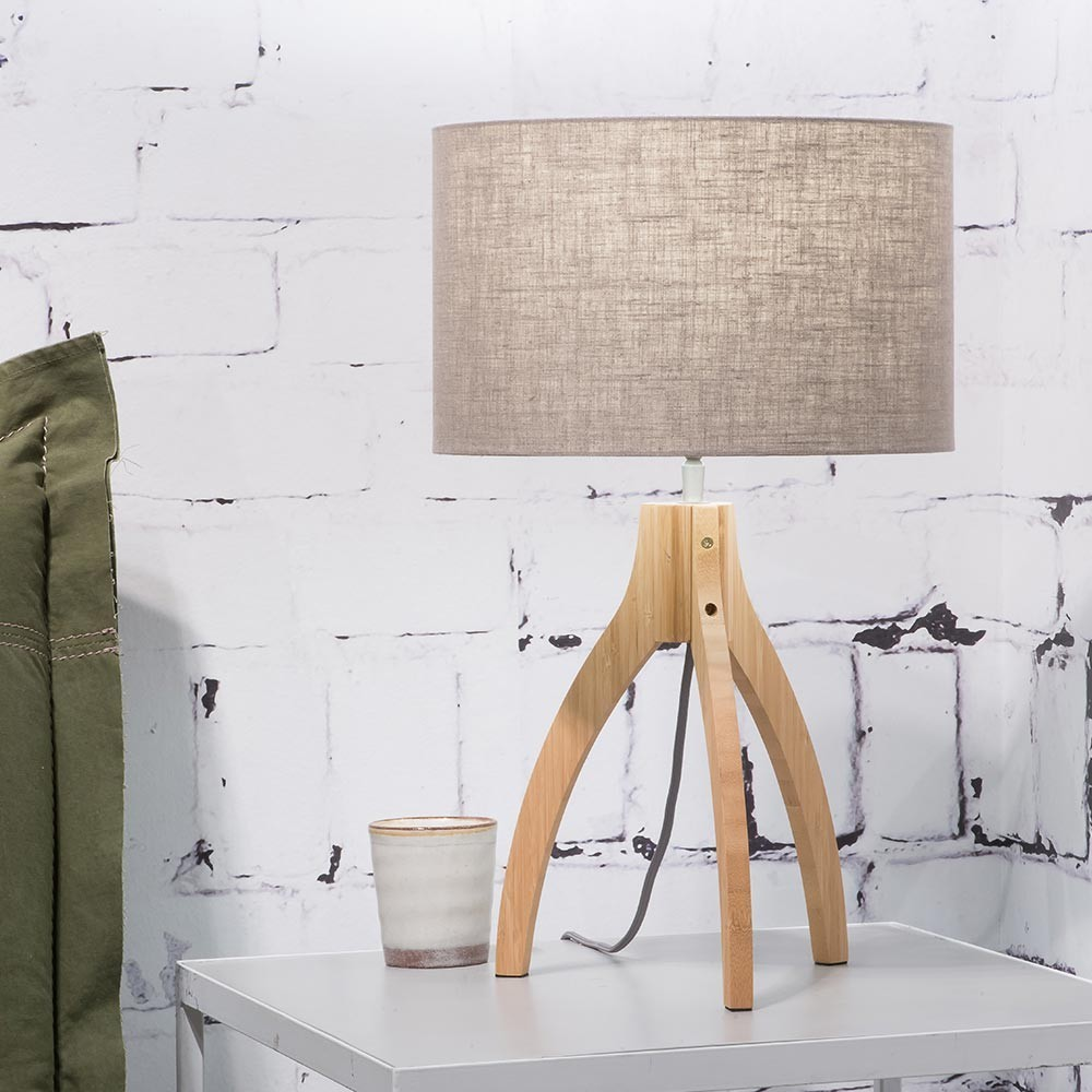 Annapurna table lamp dark linen Good & Mojo