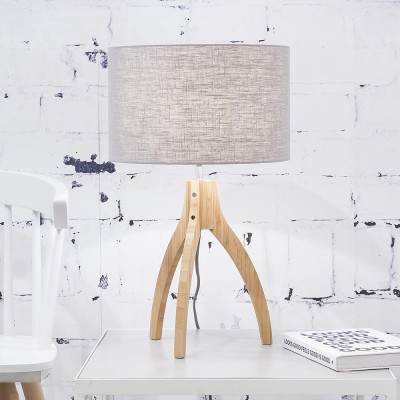 Lampe à poser Annapurna lin gris clair Good & Mojo