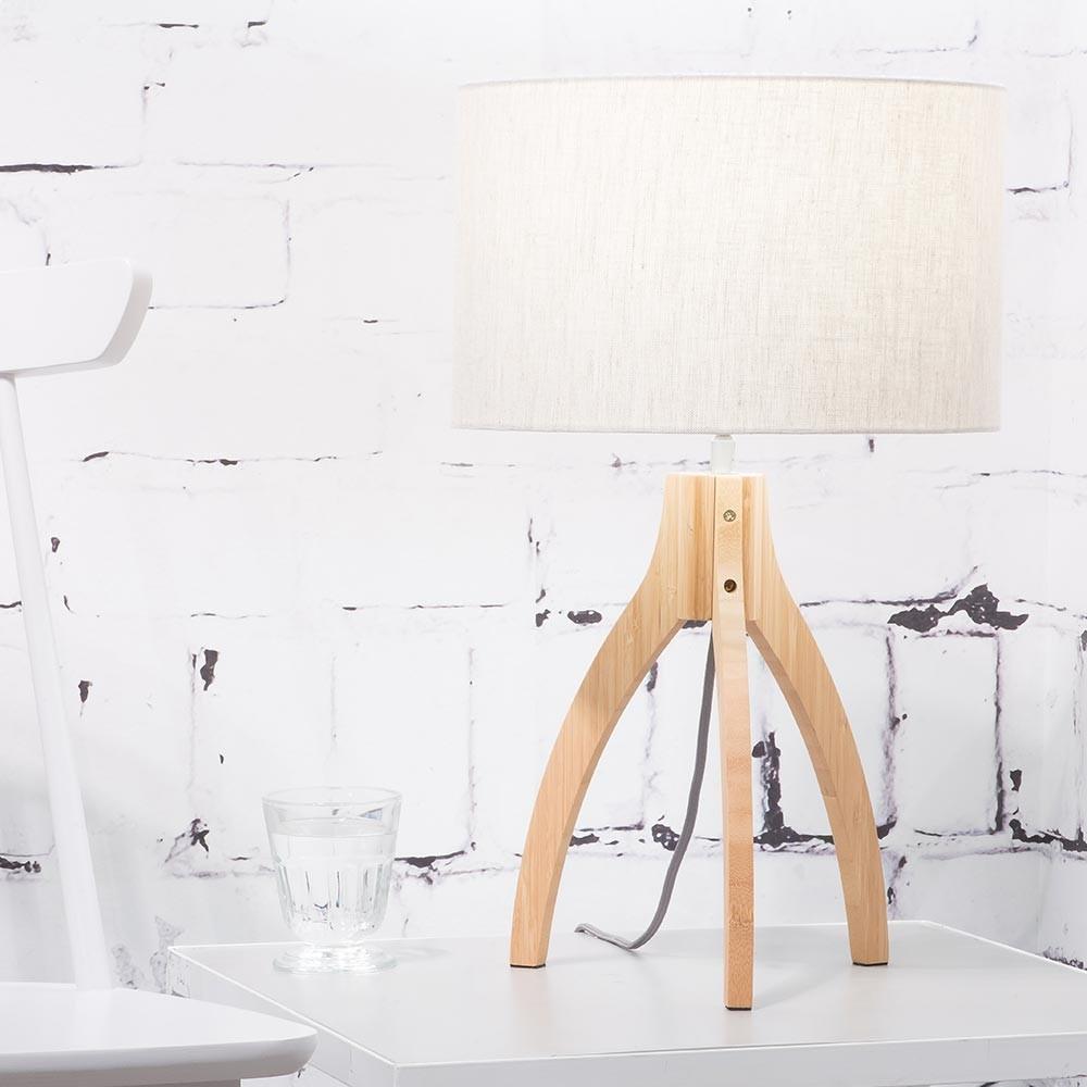 Annapurna table lamp light linen Good & Mojo