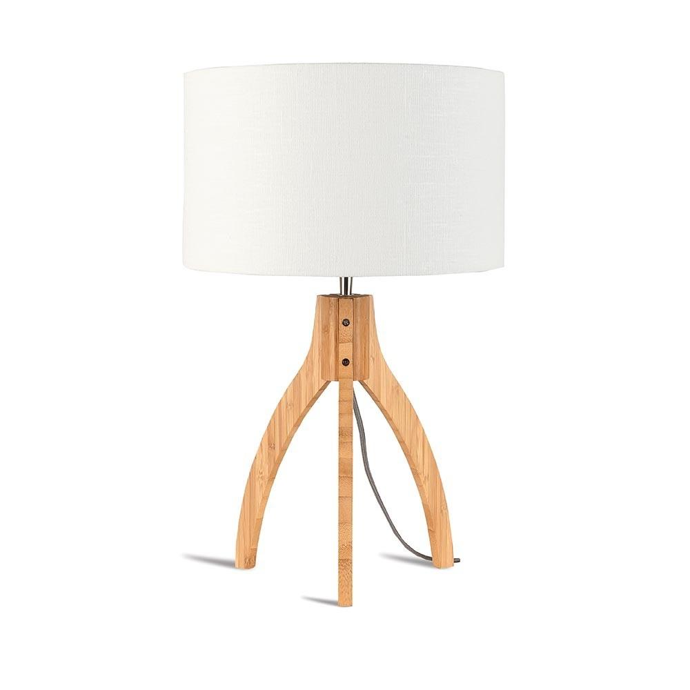 Annapurna tafellamp wit linnen Good & Mojo