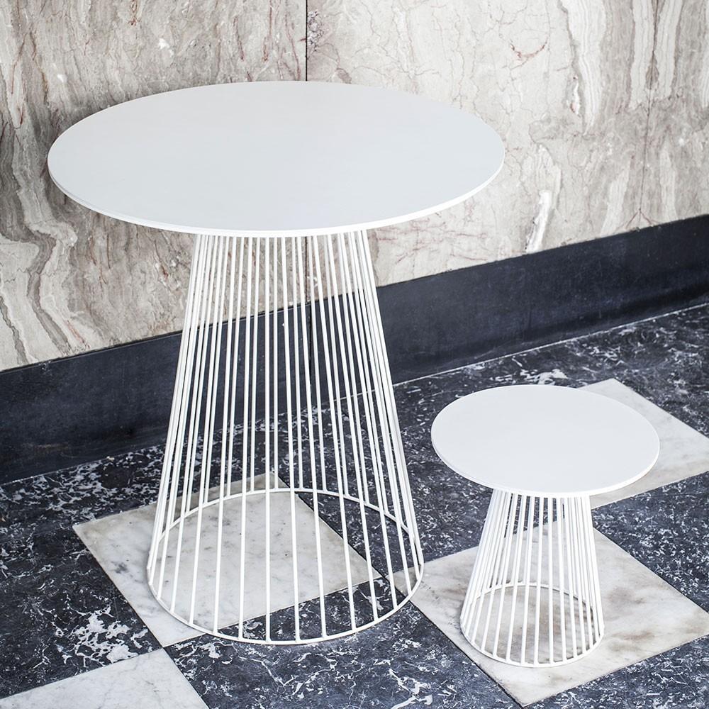 Garbo salontafel wit Ø50 cm Serax