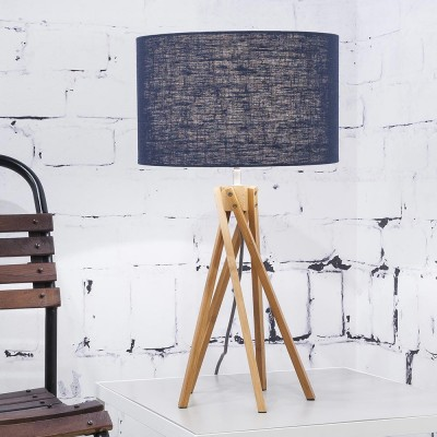 Kilimanjaro table lamp linen blue denim Good & Mojo