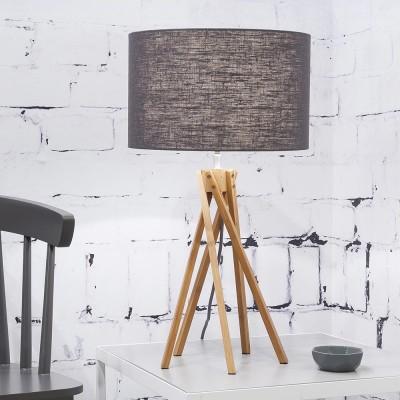 Kilimanjaro table lamp linen dark grey Good & Mojo
