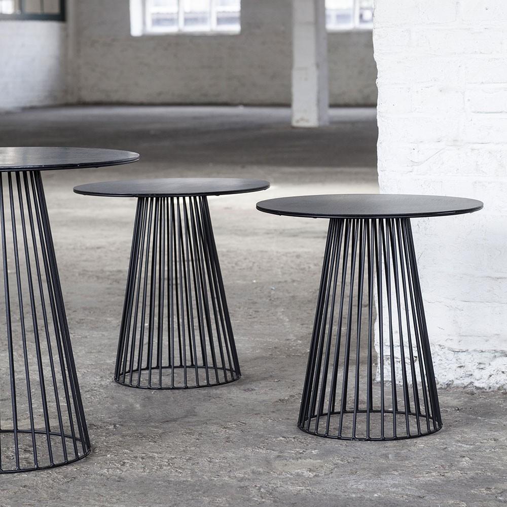 Garbo coffee table black Ø40 cm Serax