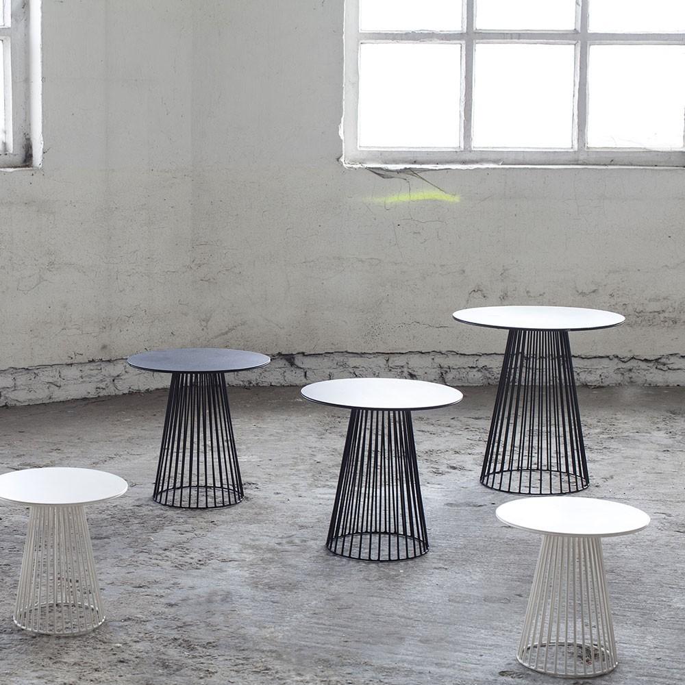 Garbo salontafel zwart Ø40 cm Serax