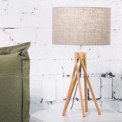 Kilimanjaro tafellamp donker linnen Good & Mojo