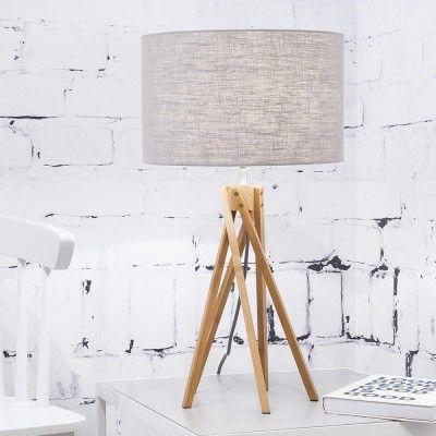 Kilimanjaro table lamp linen light grey Good & Mojo