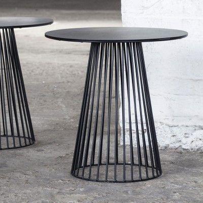 Garbo salontafel zwart Ø50 cm Serax