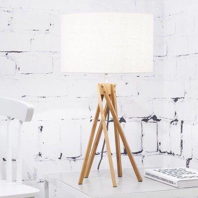 Kilimanjaro table lamp linen white Good & Mojo